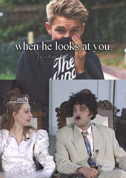 when he looks aaaa
